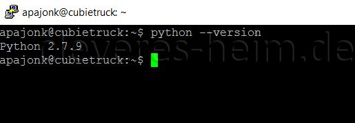 Python Version 2.7.9